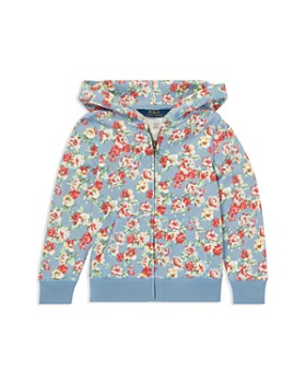 Ralph Lauren - Girls' Floral French Terry Hoodie - Little Kid