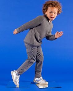 POP SHOES - Unisex St. Laurent Metallic Light-Up Sneakes - Toddler, Little Kid, Big Kid