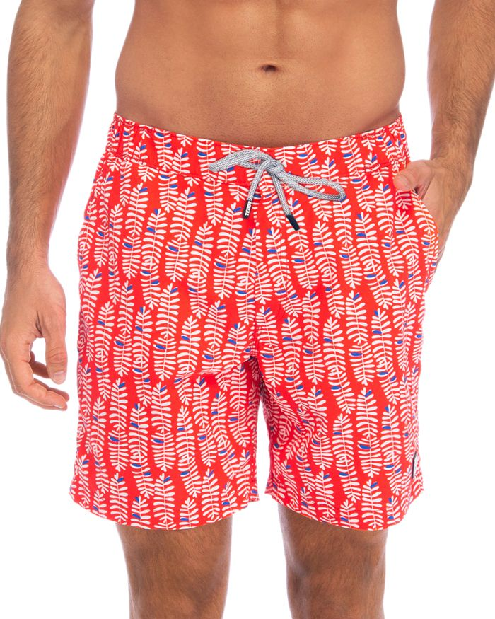TOM & TEDDY - Rowan Botanical-Print Swim Trunks