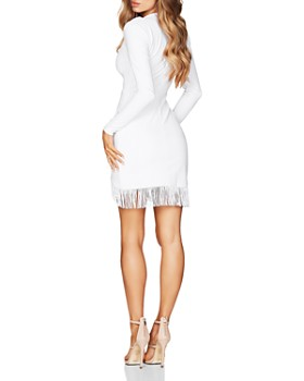 Nookie - Fever Fringe-Trimmed Mini Dress