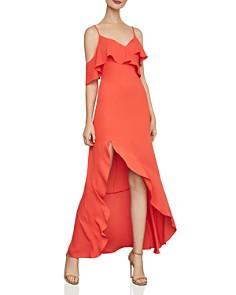 BCBGMAXAZRIA - Flutter Crepe Gown