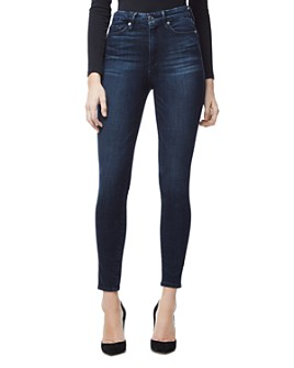 Good American - Good Waist Cropped Skinny Jeans in Blue 025