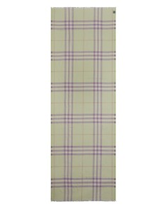 Burberry - Giant Check Gauze Scarf