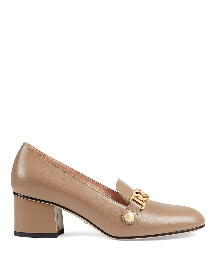 e903f2f25 Gucci Women's Sylvie Leather Block Heel Loafers | Bloomingdale's