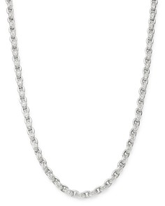 Roberto Coin - 18K White Gold Amuletto Diamond Chain Collar Necklace, 16.5""
