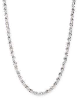 """Roberto Coin - 18K White Gold Amuletto Diamond Chain Collar Necklace, 16.5"""""""