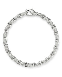 Roberto Coin - 18K White Gold Amuletto Diamond Chain Bracelet