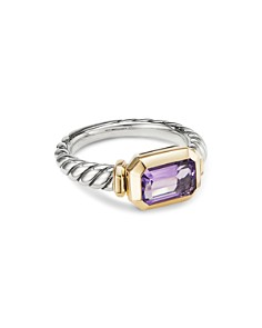 David Yurman - Novella Ring in Sterling Silver & 18K Gold