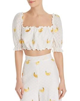 Show Me Your MuMu - Mariana Banana-Embroidery Top