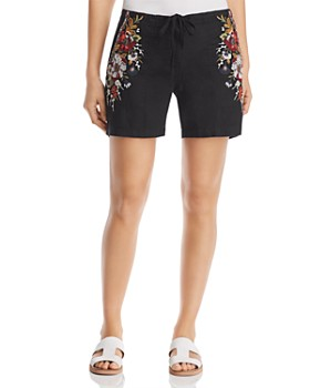 Johnny Was - Beatriz Embroidered Linen Shorts