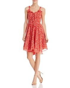 AQUA - Lace-Up Floral Dress - 100% Exclusive