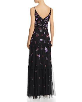 Adrianna Papell - Embellished Tiered-Ruffle Gown