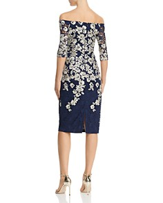 Avery G - Embroidered-Lace Midi Dress