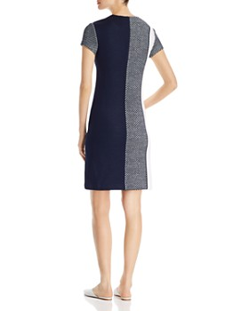 St. John - Intarsia Knit Color-Blocked Dress