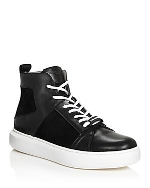 Karl Lagerfeld Sneakers Men's Leather & Suede High-Top Sneakers