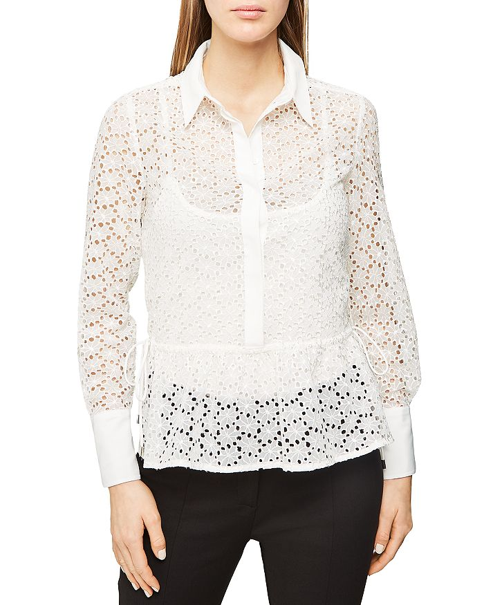 REISS - Betty Eyelet Shirt