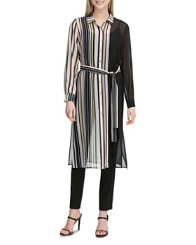 1a84dc91738 Calvin Klein - Sheer Striped Tunic Top ...
