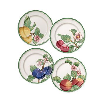 Villeroy & Boch - French Garden Modern Fruit Dinner Plates, Set of 4