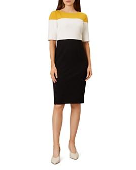 HOBBS LONDON - Marietta Color-Block Sheath Dress