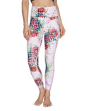 Betsey Johnson Pants DOT-PRINT FLORAL LEGGINGS