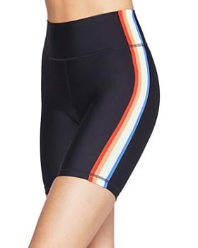 Spiritual Gangster - Rainbow Stripe Bike Shorts