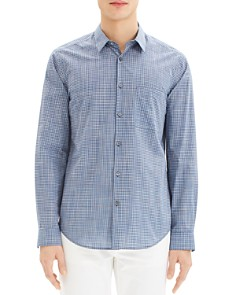 Theory - Rammy Bimby Gingham Regular Fit Shirt