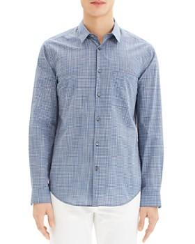 Theory - Rammy Mini-Plaid Regular Fit Shirt