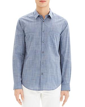 Theory Rammy Mini-Plaid Regular Fit Shirt