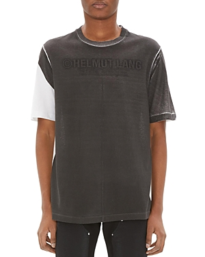 Helmut Lang Shorts SHORT-SLEEVE COLOR-BLOCK LOGO GRAPHIC TEE