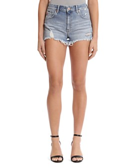 Mavi - Rosie 80's Forever Cutoff Denim Shorts in Mid Retro 80's