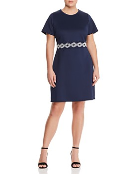 453feb42381 MICHAEL Michael Kors Plus - Embellished Scuba Dress ...