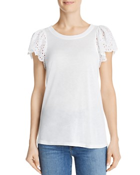 Rebecca Taylor - Livy Lace-Trimmed Jersey Top