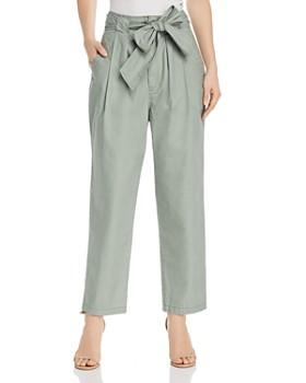 1b37c8592fd Rebecca Taylor - Poplin Tie-Waist Pants ...