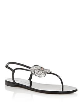 Giuseppe Zanotti - Women's Embellished Thong Sandals
