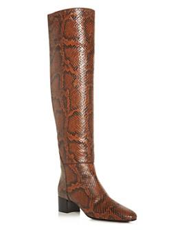 Giuseppe Zanotti - Women's Mascolina Snake-Embossed Block-Heel Boots