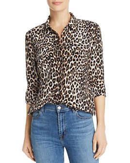 Equipment - Slim Signature Leopard-Printed Silk Shirt