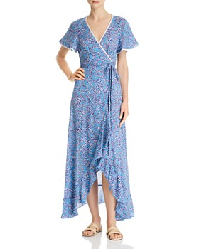 Poupette St. Barth - Joe Ruffled Wrap Dress