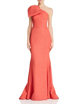 Rebecca Vallance - Francesca Textured One-Shoulder Gown