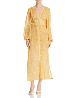 Divine Heritage - Button-Front Floral Dress