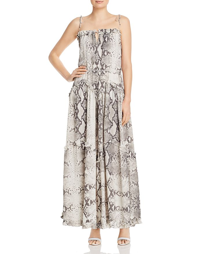 a5e79a4cd78e S/W/F Harmony Snakeskin-Print Maxi Dress | Bloomingdale's