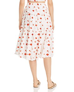 Charlie Holiday - Valentine Ruffled Floral-Print Midi Skirt