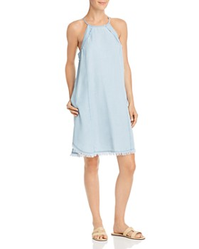 6a9a8713d7ea AQUA - Frayed Chambray Shift Dress - 100% Exclusive ...