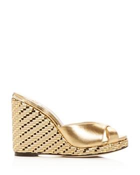 Jimmy Choo - Women's Almer 105 Woven Wedge Slide Sandals