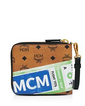 MCM - Visetos Flight Print Small Zip-Around Wallet