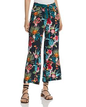 BASLER - Floral-Print Wide-Leg Ankle Pants