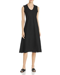 Eileen Fisher Petites - Frayed Organic Linen Dress