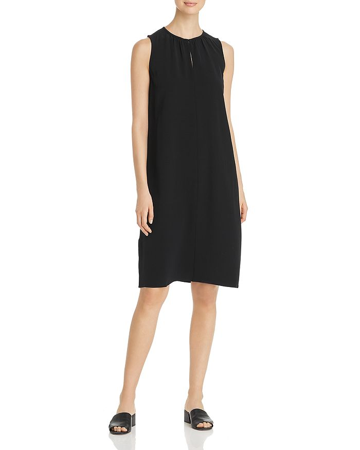Eileen Fisher - Shirred Keyhole Dress