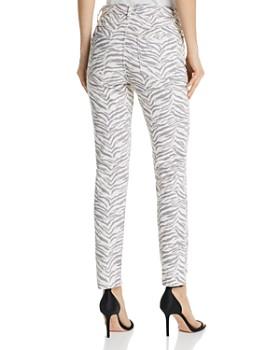 Rebecca Taylor - Ziger Ines Zebra-Print Jeans in Cream Combo