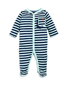 7 For All Mankind - Boys' Textured Stripe Footie - Baby
