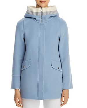Herno Rib-Knit Hooded Cashmere Coat - 100% Exclusive-Women